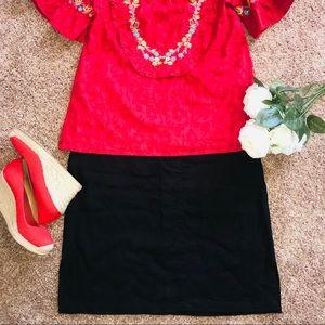 Dresses & Skirts - Black Linen/Rayon Skirt